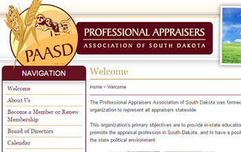 Professional Appraisers Association of South Dakota website