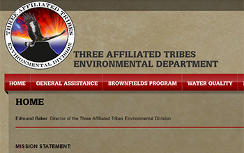 Three Affiliated Tribes Environmental Department website